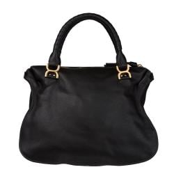 Chloe 'Marcie' Black Leather Shoulder Bag