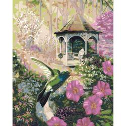 Plaid 'Garden Hummingbird' Paint-by-Number Kit (16x20)