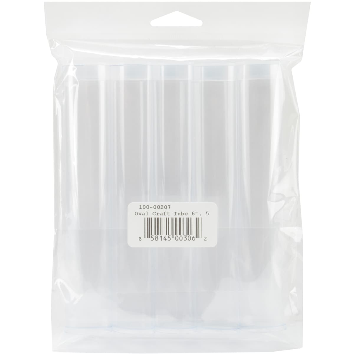 Clear Oval Trendy Craft Tube (Pack of 5)