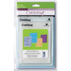 Cuttlebug Cricut Companion Word Collage Embossing Folders (Pack of 4)
