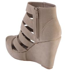 Hailey Jeans Co Women's 'Thaw-07' Strappy Open Toe Wedge Bootie