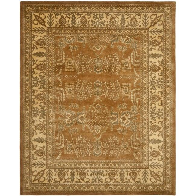 Safavieh Handmade Tree Light Brown/ Beige Hand-spun Wool Rug (8' x 10')