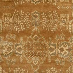 Handmade Tree Light Brown/ Beige Hand-spun Wool Rug (9' x 12')