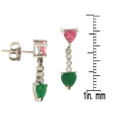 Mason Kay 18k Gold Multi-gemstone and 1/10ct TDW Diamond Earrings (G-H, VS1-VS2)