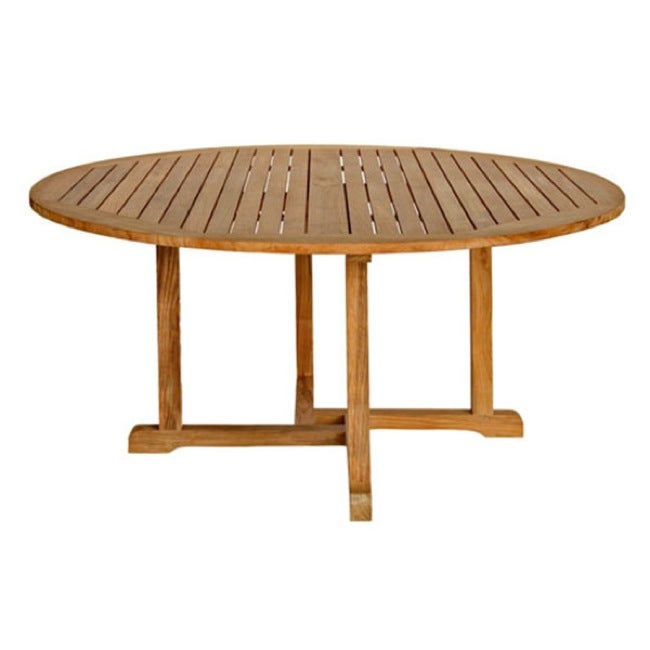 Chelsea 60 Inch Round Teak Dining Table 14173478