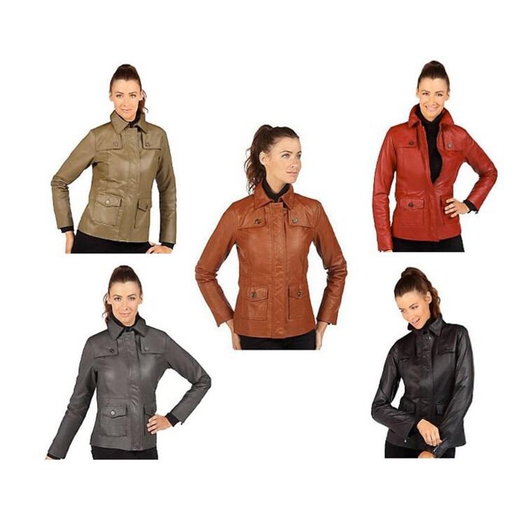 Isaac Mizrahi Live Womens Leather Jacket  ™ Shopping