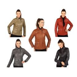Isaac Mizrahi Live! Women's Leather Jacket