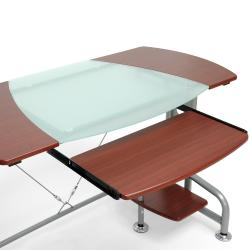 Dahan Cherry Modern Computer Desk with CPU Stand