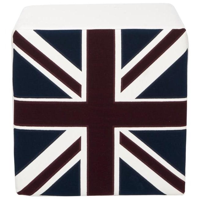 Safavieh Mono Union Jack Cube Ottoman