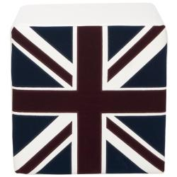 Mono Union Jack Cube Ottoman
