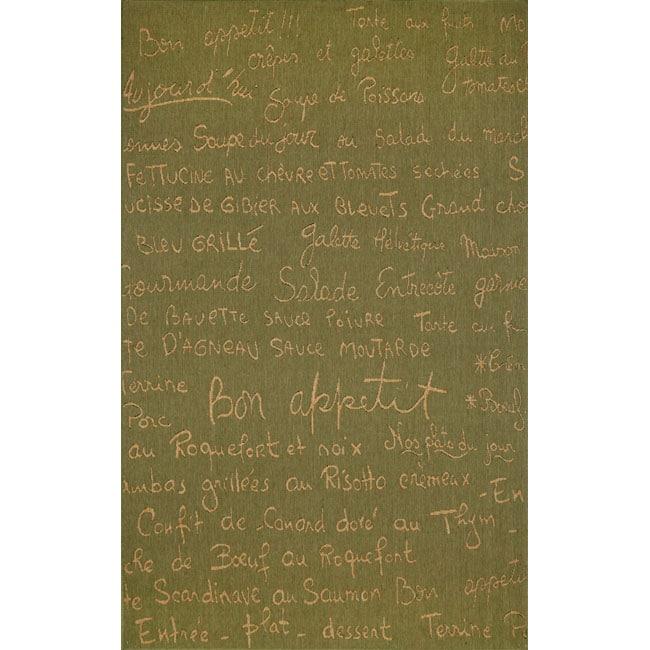 Cafe Green Rug (3'3 x 4'11)