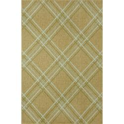 Tartan Natural / Seafoam Green Rug (3'3 x 4'11)