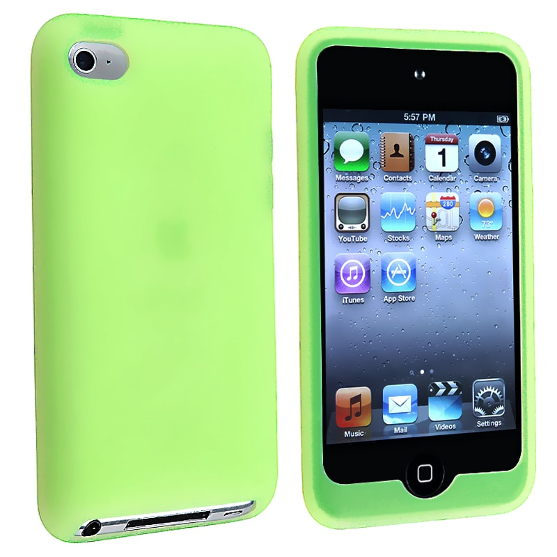 Green Silicone Skin Case for Apple iPod Touch 4th Generation