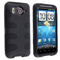 Black/ Black Fishbone Snap-on Case for HTC Inspire 4G
