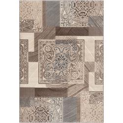Meticulously Woven Gray Contemporary Mega Medallion Patchwork Rug (6'7 x 9'4)