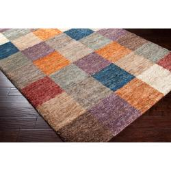 Hand-woven Gray Trinidad Natural Fiber Hemp Geometric Rug (3'3 x 5'3)