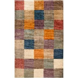 Hand-woven Gray Bellini Natural Fiber Hemp Geometric Rug (3&#39;3 x 5&#39;3)