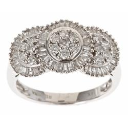 D'Yach 14k White Gold 1ct TDW White Diamond Cocktail Ring (G-H, I1-I2)