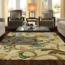 Mohawk Home Hand Tufted Marlena Beige Wool Rug (5' x 7'6)
