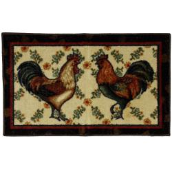 Mohawk Home Country Roosters Brown Kitchen Rug (1'9 x 2'10)