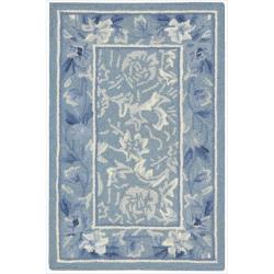 Nourison Hand-hooked Ivory Blue Country Heritage Rug (1'9 x 2'9)