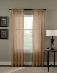 Trinity Crinkle Voile Sheer 84-inch Curtain Panel Pair