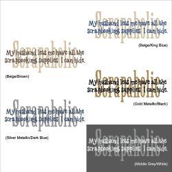 Vinyl Letter Decor 12-inch 'Scrapaholic' Vinyl Wall Decal