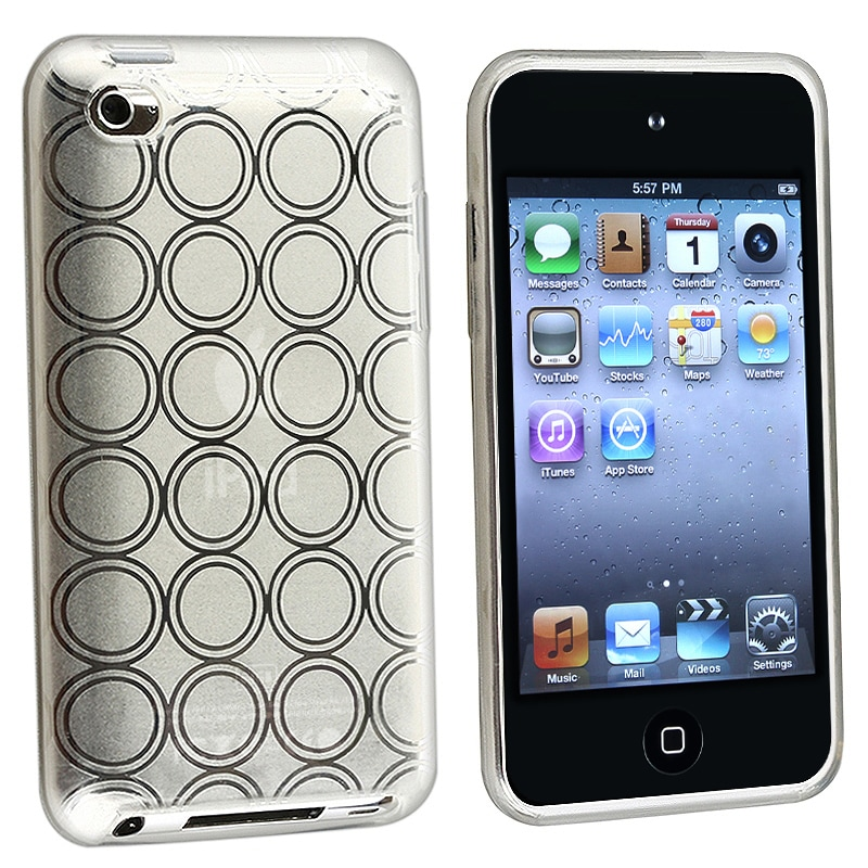 BasAcc Clear White Circle TPU Case for Apple iPod Touch Generation 4