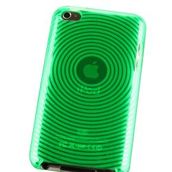 BasAcc Clear Green Circle TPU Case for Apple iPod Touch Generation 4