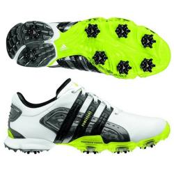 Adidas Men's Powerband 4.0 White/ Slime/ Black Golf Shoes