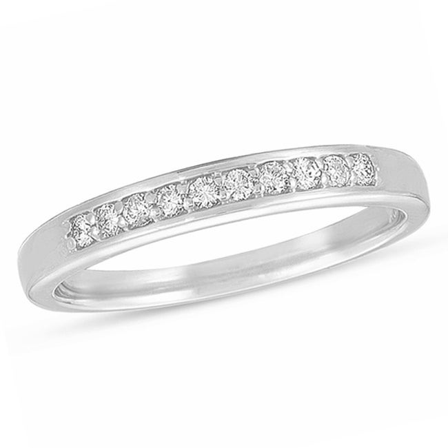14k White Gold 1/6ct TDW Diamond Wedding Band (H-I, I1-I2)
