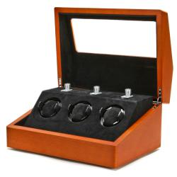 Collectors Multi-Function Brown Watch Winder