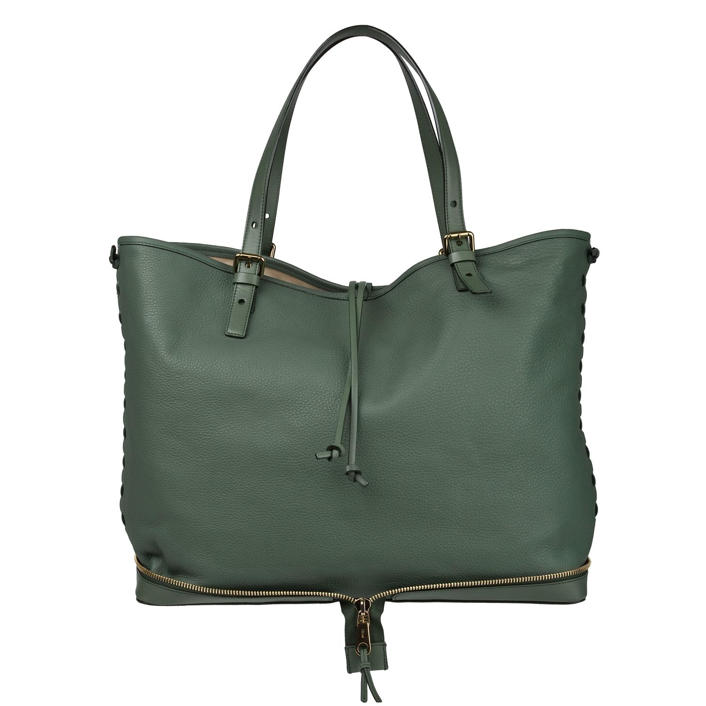 Chloe 'Ellen Moyen' Sea Green Leather Oversized Tote Bag