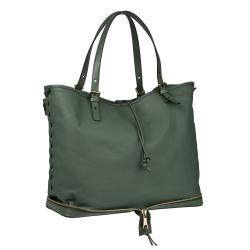 Chloe 'Ellen Moyen' Sea Green Leather Oversized Tote Bag