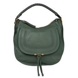 Chloe 'Marcie' Green Italian Leather Hobo Bag