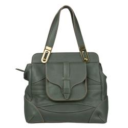 Chloe 'Mary' Green Leather Satchel Bag
