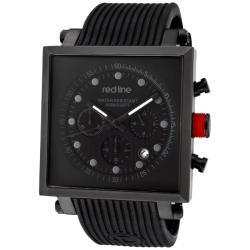 Red Line Men's 'Compressor2' Black Silicone Watch