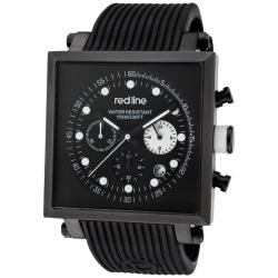 Red Line Men's 'Compressor2' Black Silicone Watch
