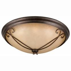 Corsica 8-light English Bronze Flush-mount Fixture