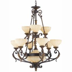 Venus11-light English Bronze Chandelier