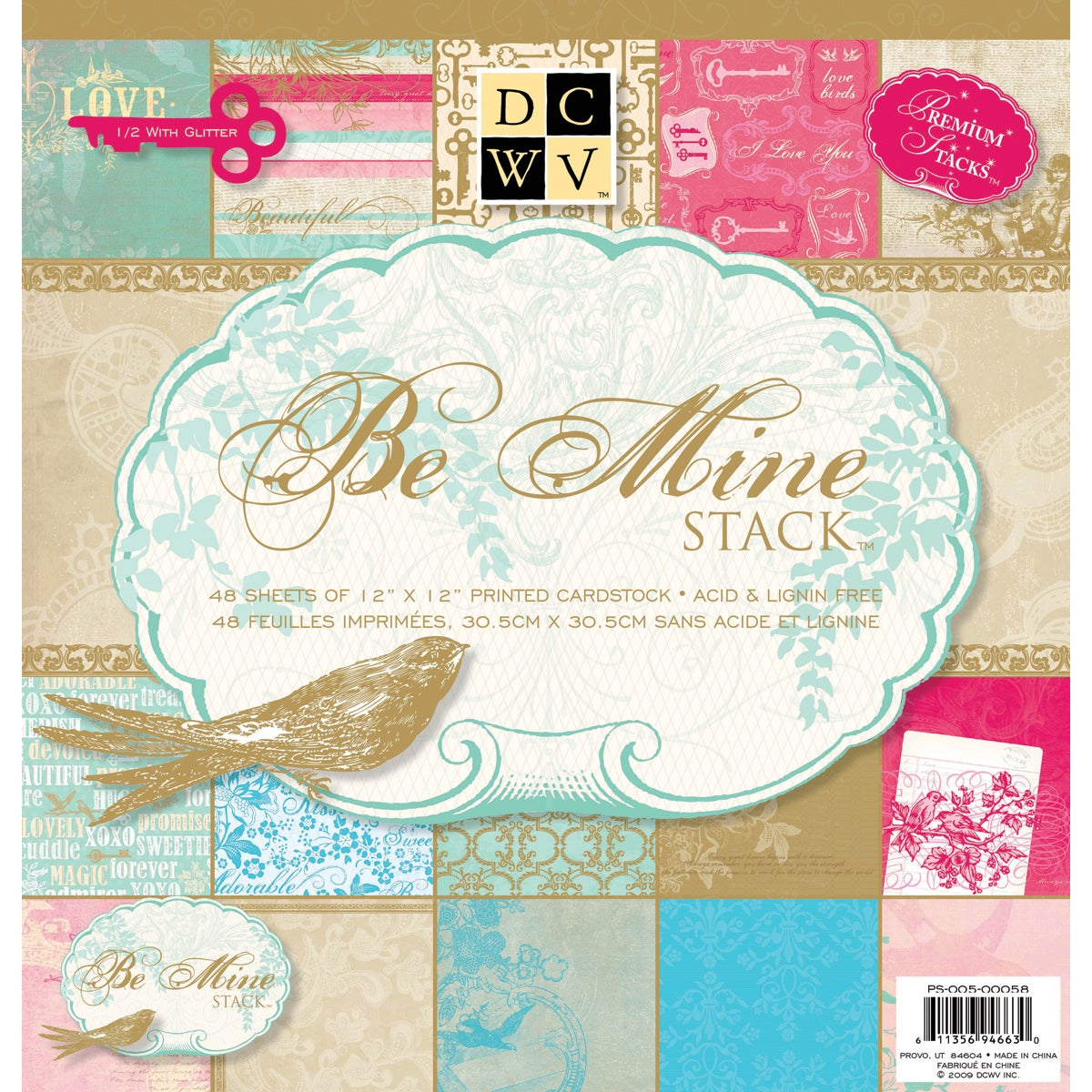 Be Mine Paper Stack (Pack of 48)