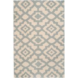Hand-woven Natural Market A Wool Rug (8' x 11')