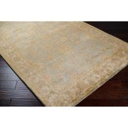 Hand-tufted Brown Panel F New Zealand Wool Rug (3'3 x 5'3)