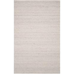 Hand-woven White Canister Wool Rug (8' x 11')