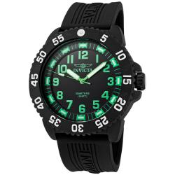 Invicta Men's 'Pro Diver' Black Polyurethane Watch