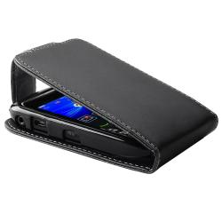 Black Leather Case with Card Holder for BlackBerry Curve 8520/ 9300