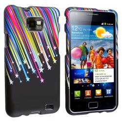 Black/ Rainbow Star Snap-on Rubber Case for Samsung Galaxy S II i9100