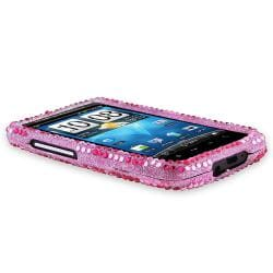Pink Zebra Diamond Snap-on Case for HTC Inspire 4G/ Desire HD