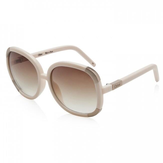 Chloe 'CL 2119 C03' Cream Plastic Sunglasses