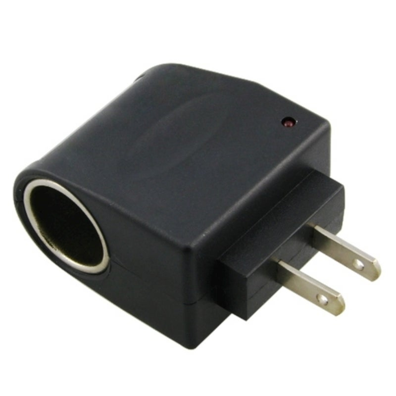BasAcc Universal US Plug AC to DC Car Socket Adapter